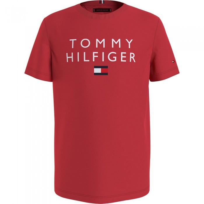 [해외]타미힐피거 KIDS Logo Short Sleeve T-Shirt 15138164899 Deep Crimson
