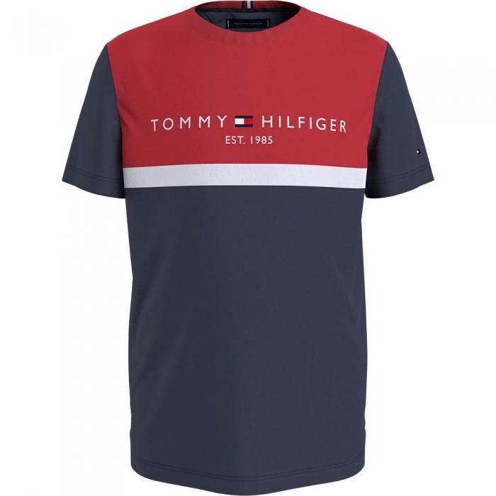 [해외]타미힐피거 KIDS Essential Colorblock Short Sleeve T-Shirt 15138164901 Twilight Navy