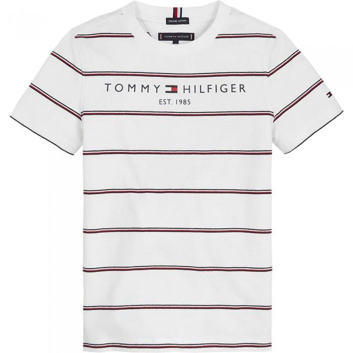 [해외]타미힐피거 KIDS Essential Stripe Short Sleeve T-Shirt 15138164902 White