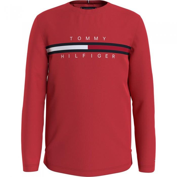 [해외]타미힐피거 KIDS Flag Rib Insert Long Sleeve T-Shirt 15138164907 Deep Crimson