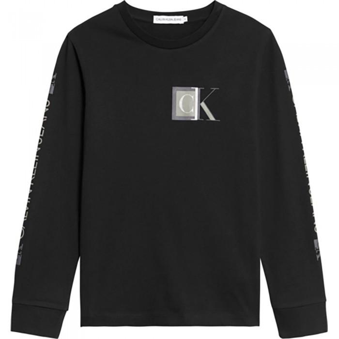 [해외]캘빈클라인 JEANS Block Monogram Long Sleeve T-Shirt 15138226608 Ck Black