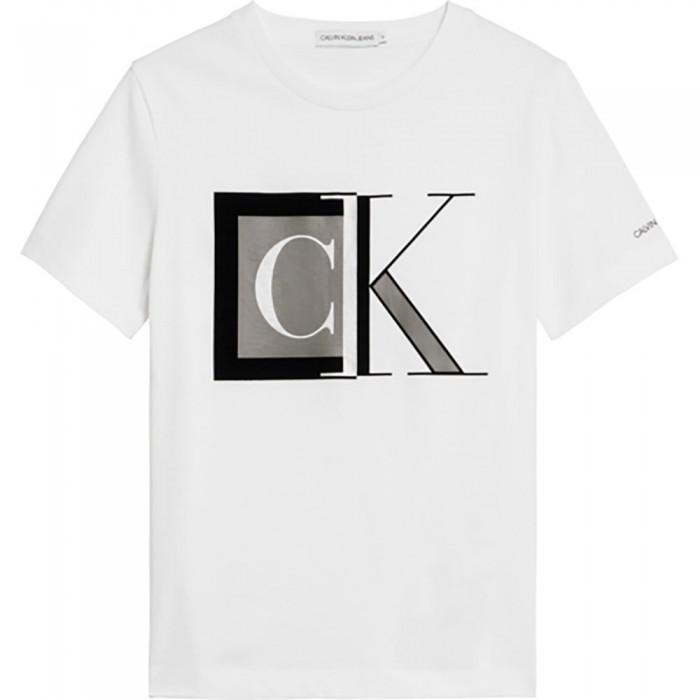 [해외]캘빈클라인 JEANS Block Monogram Short Sleeve T-Shirt 15138226609 Bright White
