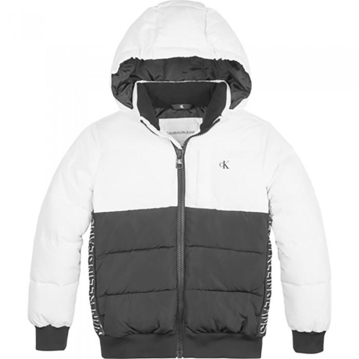 [해외]캘빈클라인 JEANS Color Block Puffer Jacket 15138226611 Bright White