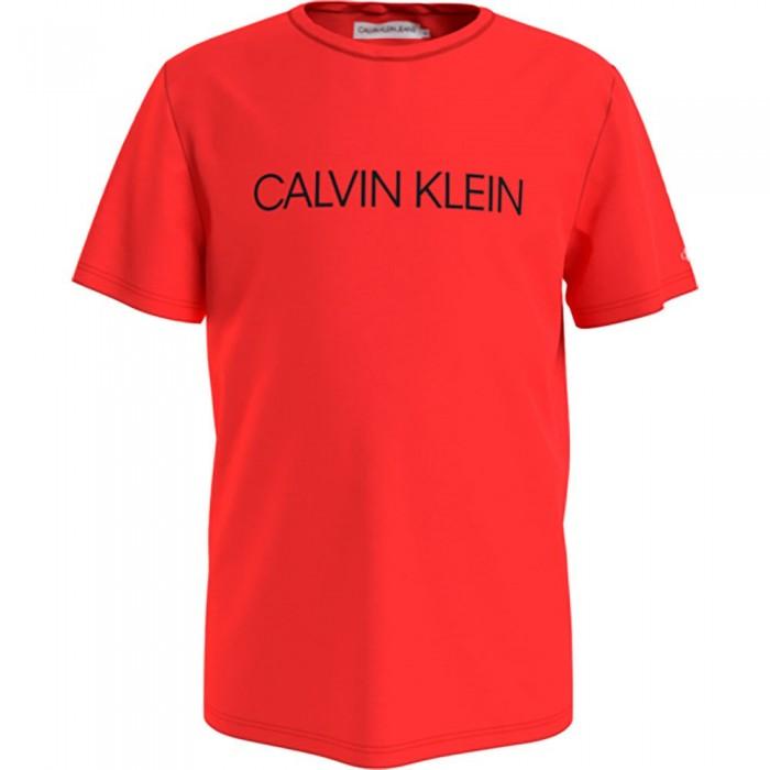 [해외]캘빈클라인 JEANS Institutional Short Sleeve T-Shirt 15138226615 Flaming Chili
