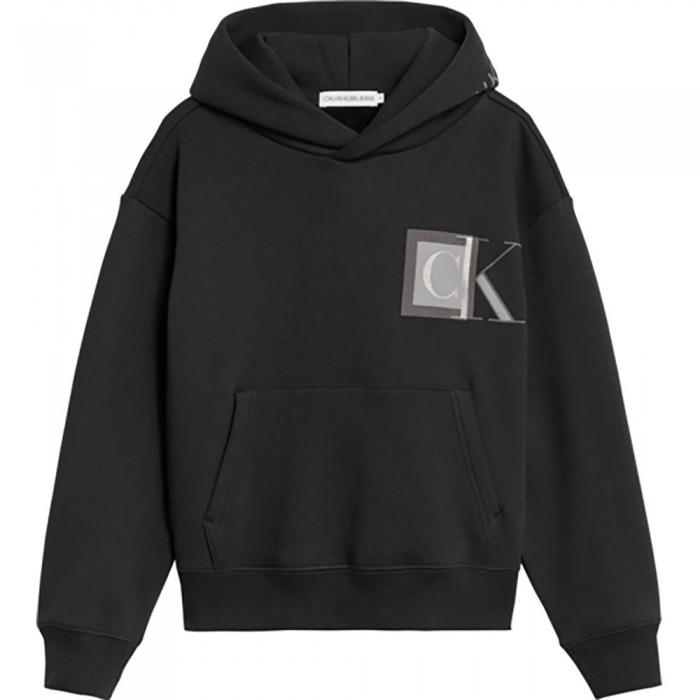 [해외]캘빈클라인 JEANS Monogram Block Logo Hoodie 15138226618 Ck Black