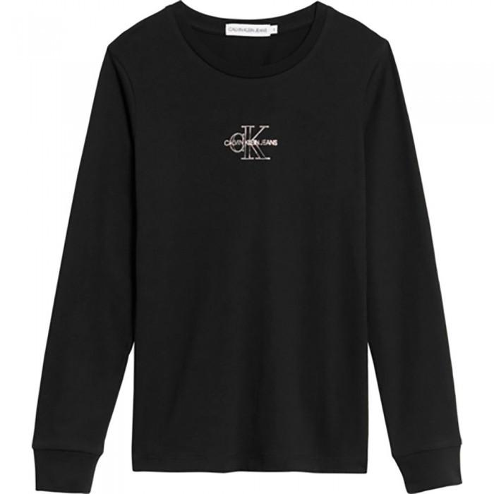 [해외]캘빈클라인 JEANS Monogram Outline Long Sleeve T-Shirt 15138226621 Ck Black