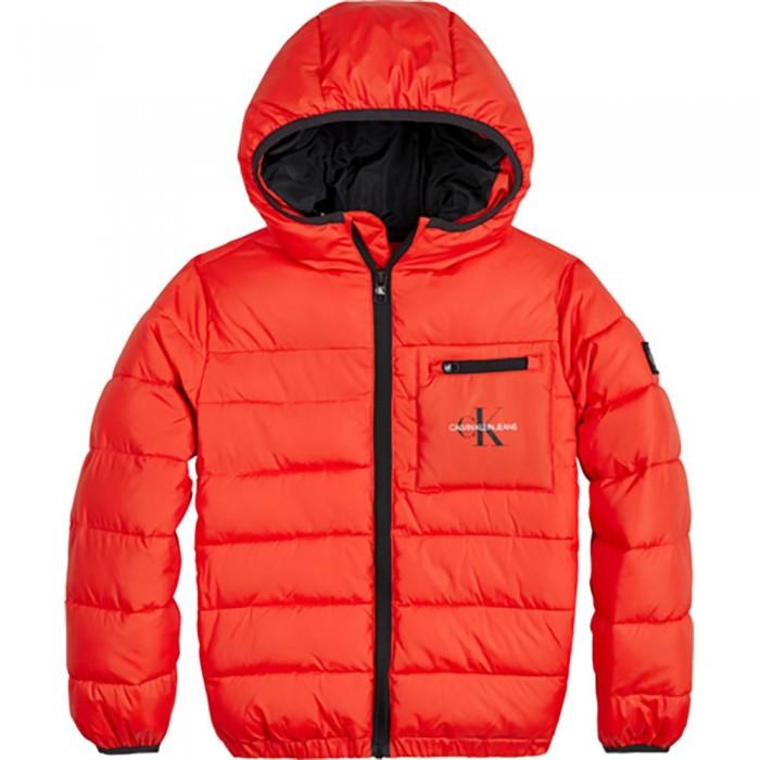 [해외]캘빈클라인 JEANS Packable Backpack Puffer Jacket 15138226624 Flaming Chili