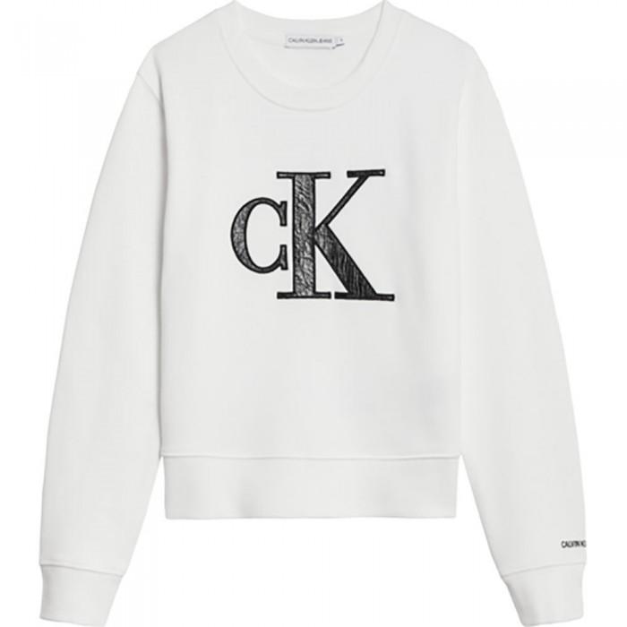 [해외]캘빈클라인 JEANS Provocative Monogram Sweatshirt 15138226625 Bright White