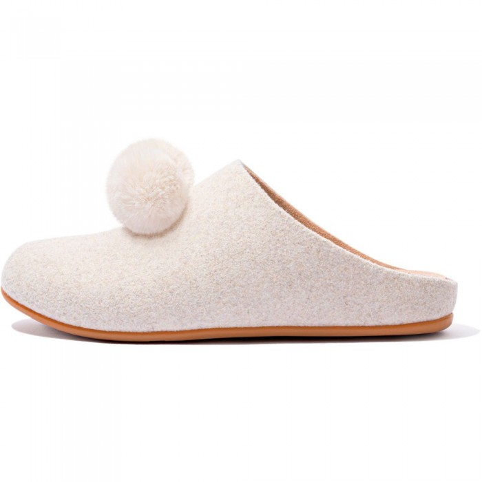 [해외]핏플랍 Chrissie Pom Slippers Natural