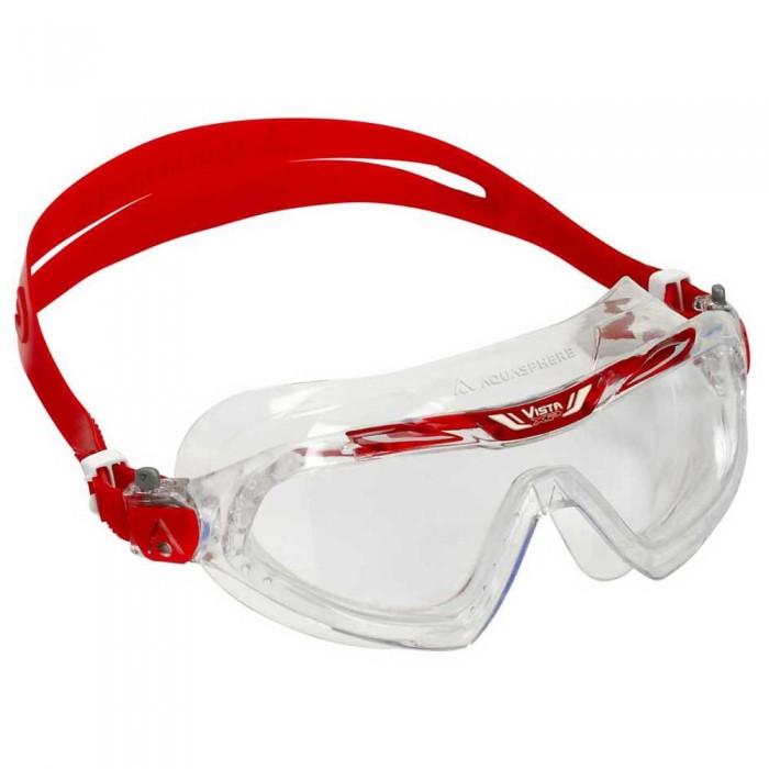 [해외]아쿠아스피어 Vista XP Swimming Mask 6138204221 Clear / Red / Clear