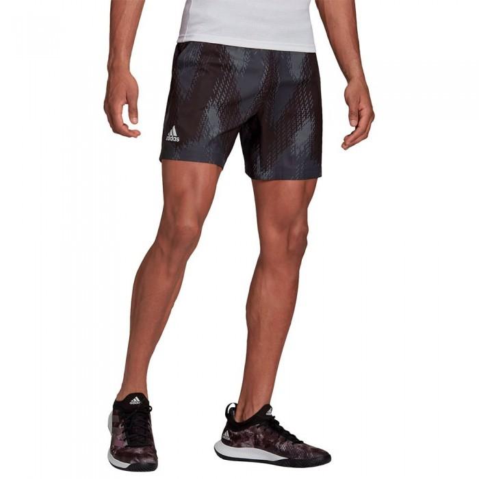 [해외]아디다스 Printed Shorts 12138108149 Grey Five / Black