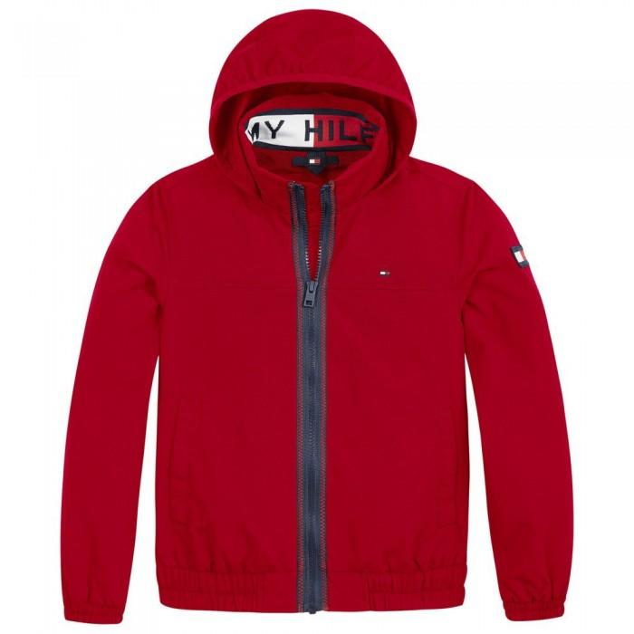 [해외]타미힐피거 KIDS Essential Logo Collar Jacket 15138054577 Deep Crimson