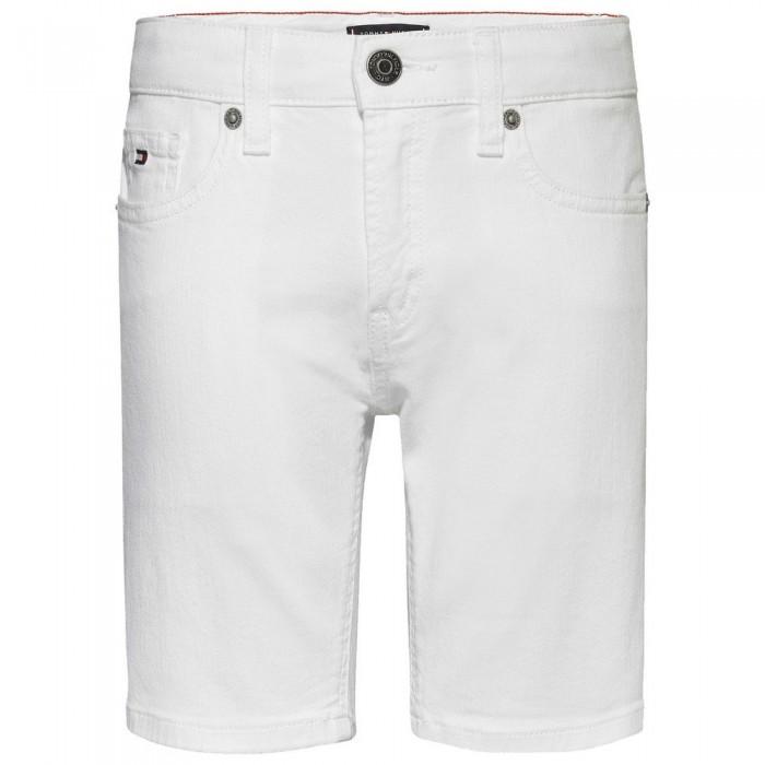 [해외]타미힐피거 KIDS Spencer Stretch Denim Shorts 15138054606 Bright White