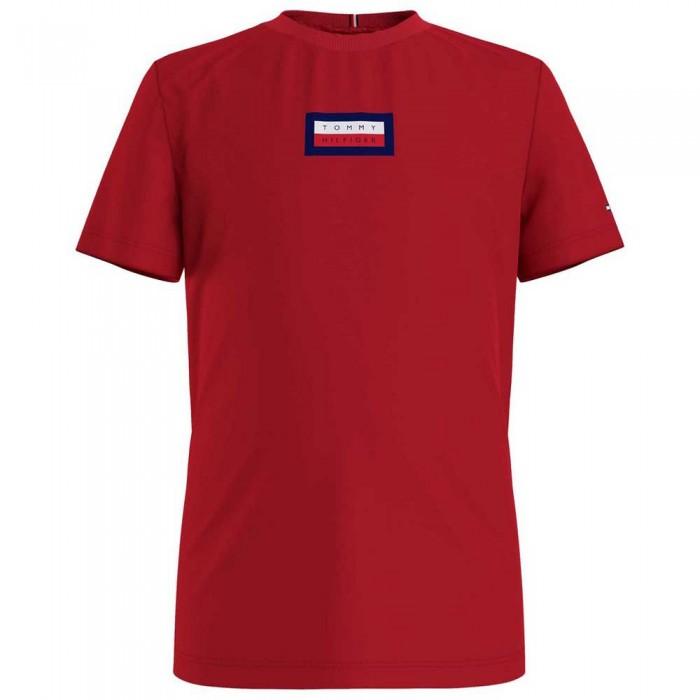 [해외]타미힐피거 KIDS Msw Graphic Short Sleeve T-Shirt 15138054625 Deep Crimson