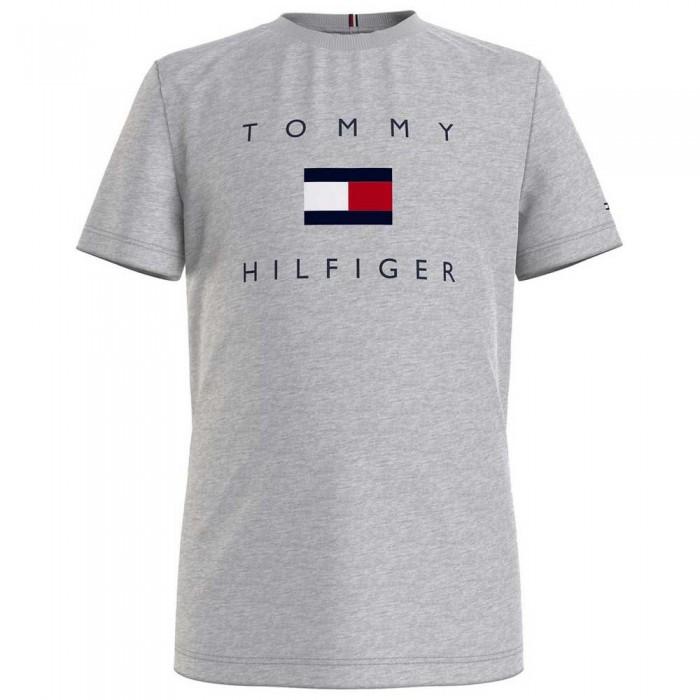 [해외]타미힐피거 KIDS Logo Short Sleeve T-Shirt 15138054634 Light Grey Heather