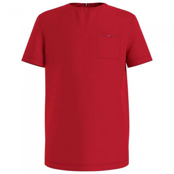 [해외]타미힐피거 KIDS Essential Pocket Short Sleeve T-Shirt 15138054674 Deep Crimson