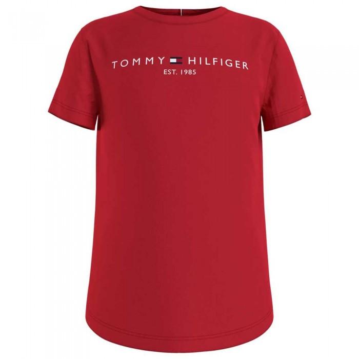 [해외]타미힐피거 KIDS Essential Short Sleeve T-Shirt 15138054694 Deep Crimson
