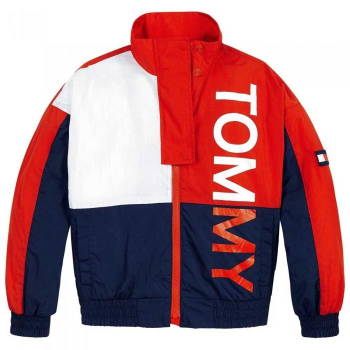[해외]타미힐피거 KIDS Colour-Blocked Logo Jacket 15138054779 Deep Crimson / Twilight Navy