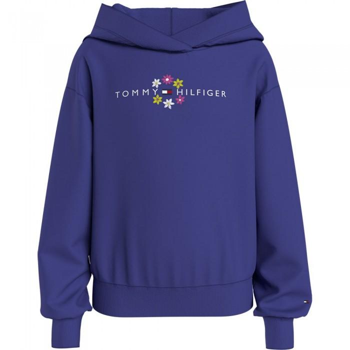 [해외]타미힐피거 KIDS Flower Embroidered Hoodie 15138164911 Court Purple