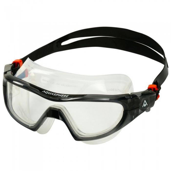 [해외]아쿠아스피어 Vista Pro Swimming Mask 6138204218 Black / Clear