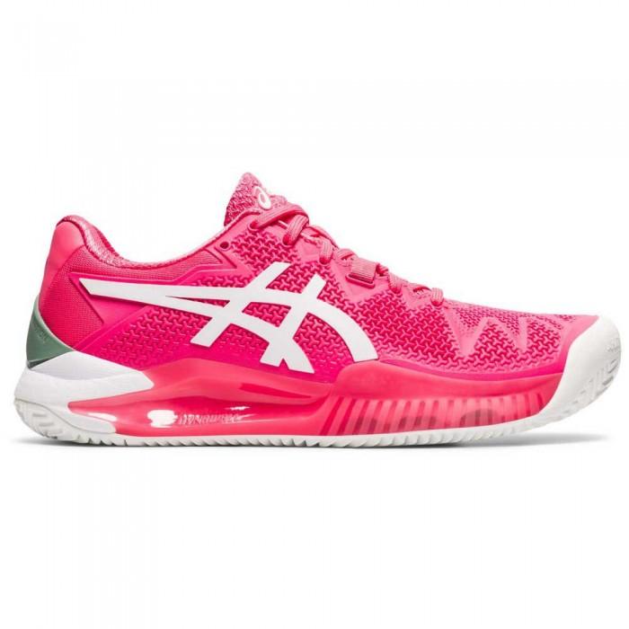 [해외]아식스 Gel Resolution 8 Clay Shoes 12137914560 Pink Cameo / White