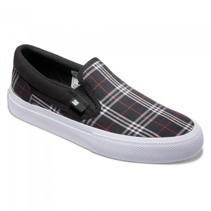 [해외]DC슈즈 Manual TXSE Slip-On Shoes 14138152778 Black / Plaid