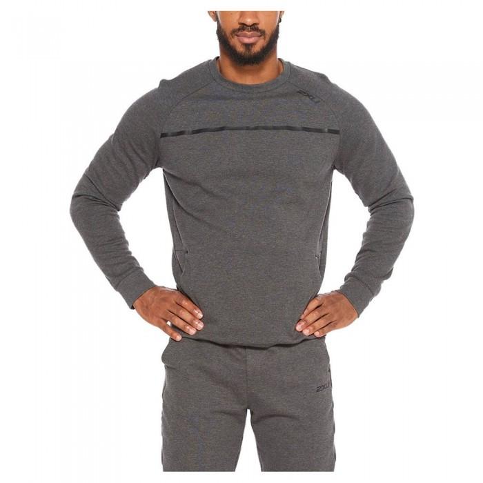 [해외]2XU Commute Crew Sweatshirt 6138230845 Charcoal Marle / Black
