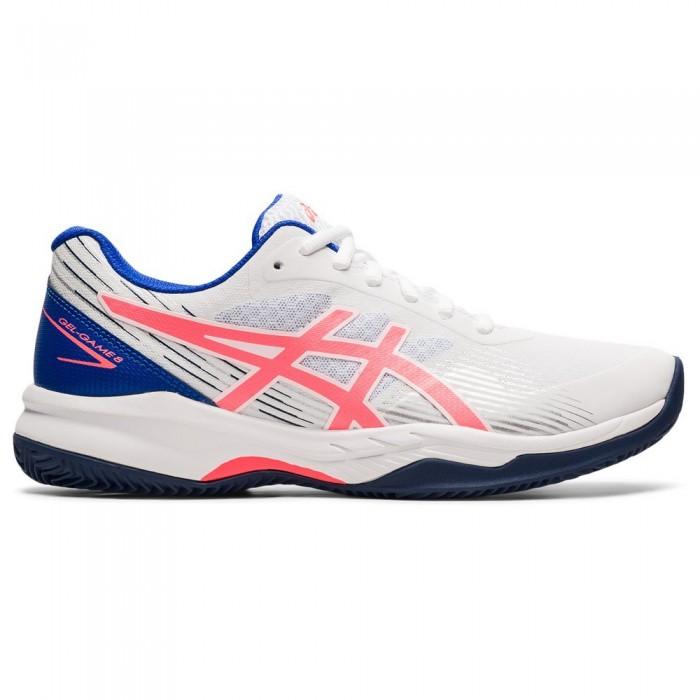 [해외]아식스 Gel-Game 8 Shoes 12138131678 White / Blazing Coral