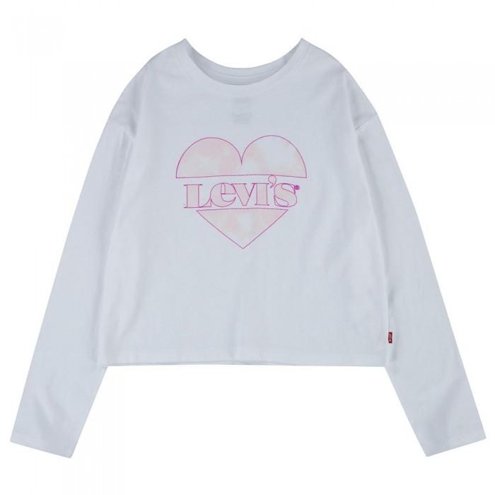 [해외]리바이스 ? KIDS Cropped Long Sleeve T-Shirt 15138145870 White