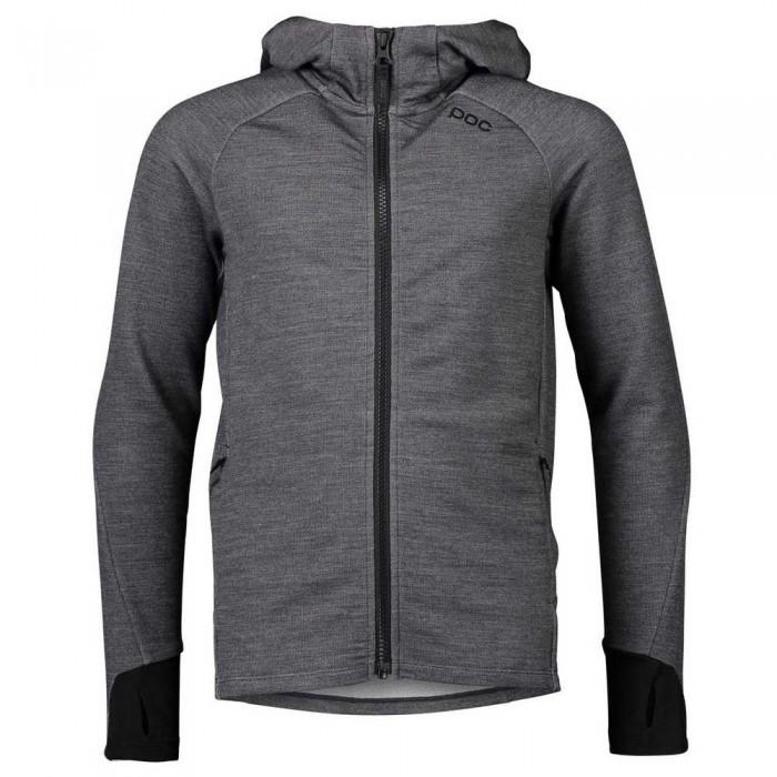 [해외]POC Merino Full Zip Sweatshirt 5138284538 Sylvanite Grey Melange