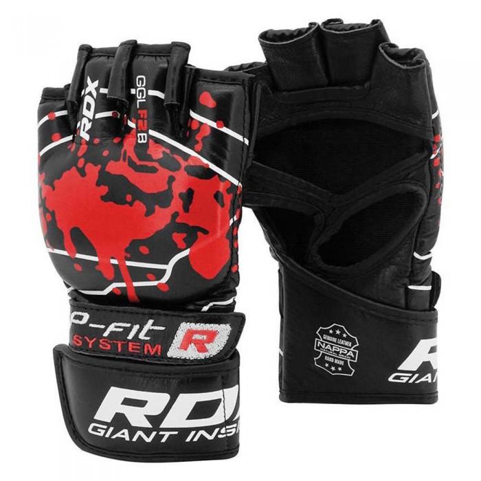 [해외]RDX SPORTS Blood Double Strap Grappling Gloves Combat Gloves 7138307438 Red