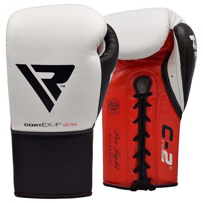 [해외]RDX SPORTS C2 Fight Lace Up Leather Boxing Gloves 7138307446 Red