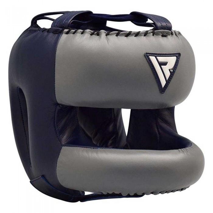 [해외]RDX SPORTS Leather Pro 2 Head Gear With Nose Protection 7138307492 Blue
