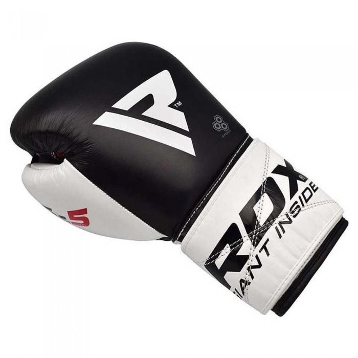 [해외]RDX SPORTS Leather S5 Boxing Gloves 7138307494 Black