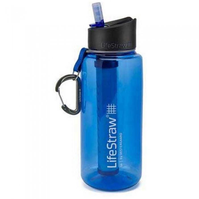 [해외]LIFESTRAW Water Filter Bottle Go 1L 6138101839 Blue