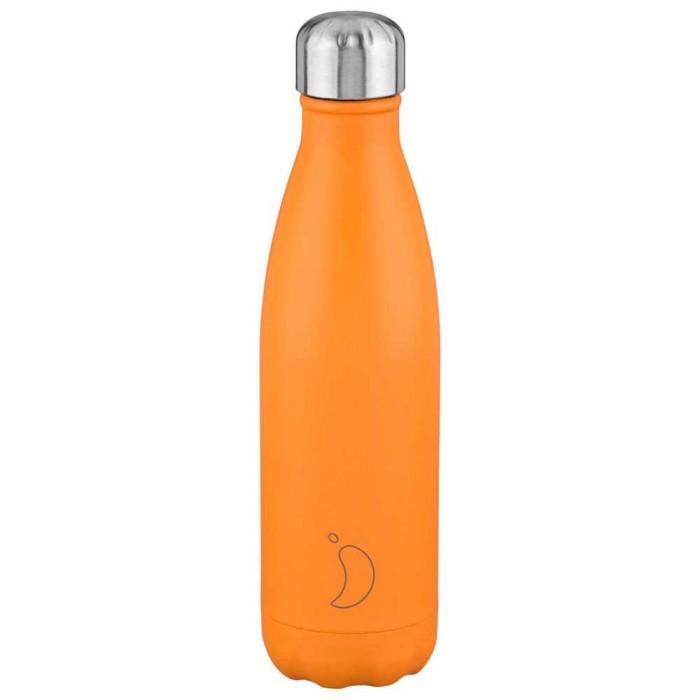 [해외]CHILLY Bottle 500 ml 6138325224 Neon Orange / Silver