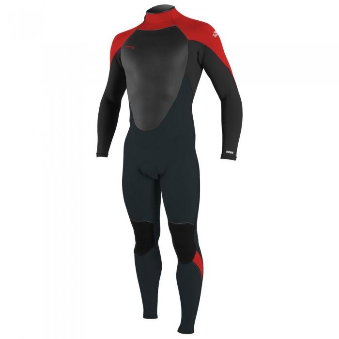 [해외]오닐 웻슈트 Epic 5/4 mm Back Zip Suit Boy 14137702093 Gun Metal / Black / Red / Red