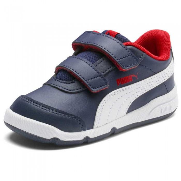 [해외]푸마 Stepflex 2 SL VE Velcro Trainers Infant 15137202414 Peacoat / Puma White / Flame Scarlet