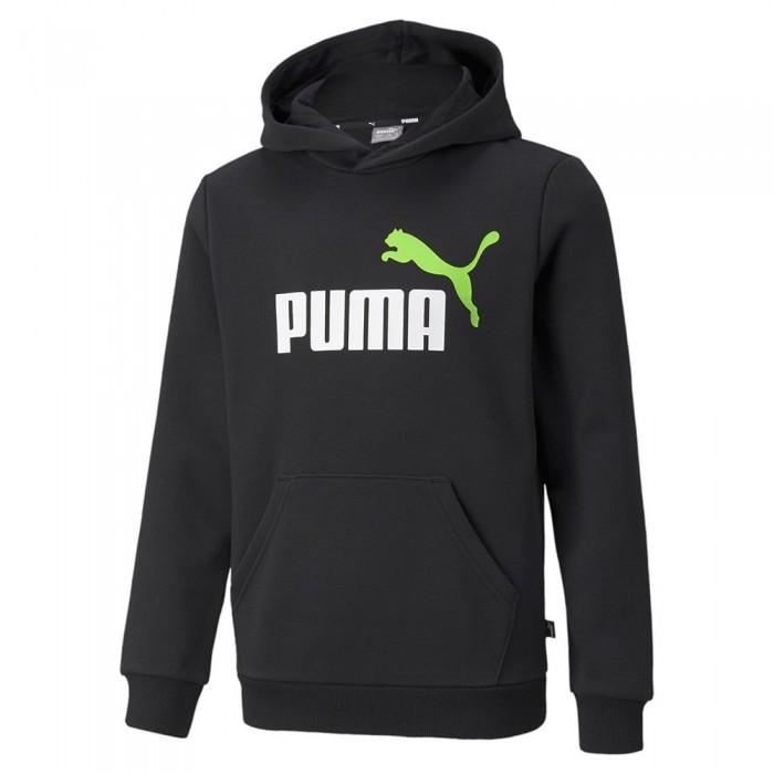 [해외]푸마 Essential+2 Col Big Logo 15138053426 Puma Black / Green Flash 1