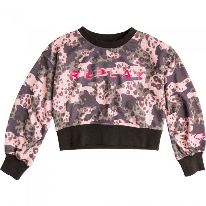 [해외]리플레이 SG2121.051.29868KF Sweatshirt 15138199934 Mimetic Pink / Military / Black