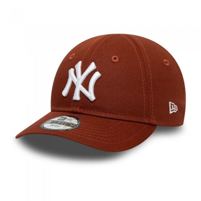 [해외]뉴에라 Team Logo New York Yankees Jake Cuff Knit Beanie 15138233248 Open Brown