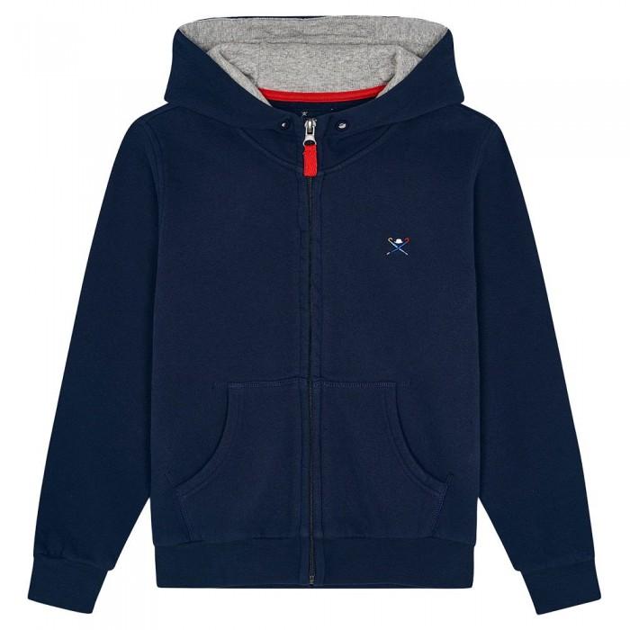 [해외]HACKETT Back Emb Youth Full Zip Sweatshirt 15138235266 Navy