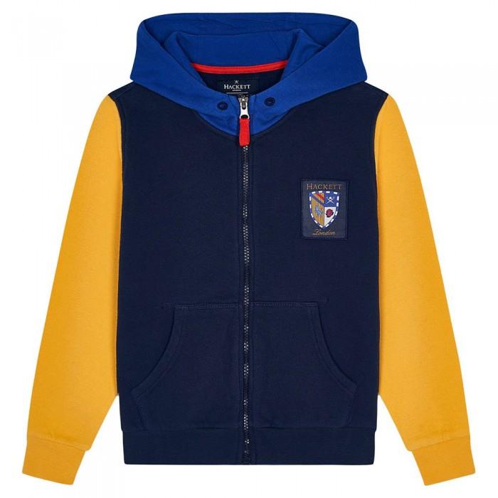 [해외]HACKETT Badged Boy Full Zip Sweatshirt 15138235267 Navy / Multi