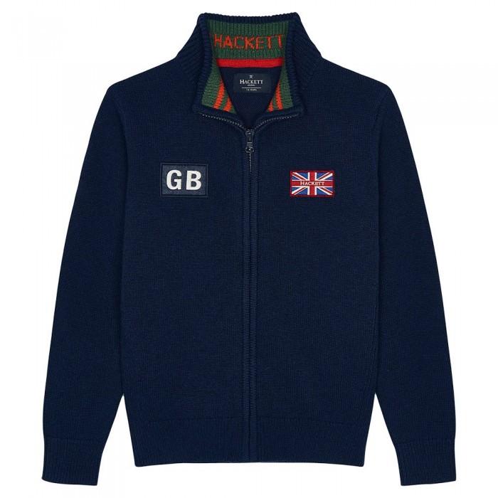 [해외]HACKETT Gbk Knit Youth Full Zip Sweater 15138235643 Navy