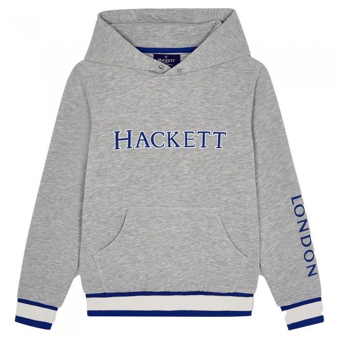 [해외]HACKETT Logo Boy Full Zip Sweatshirt 15138235755 Grey Marl