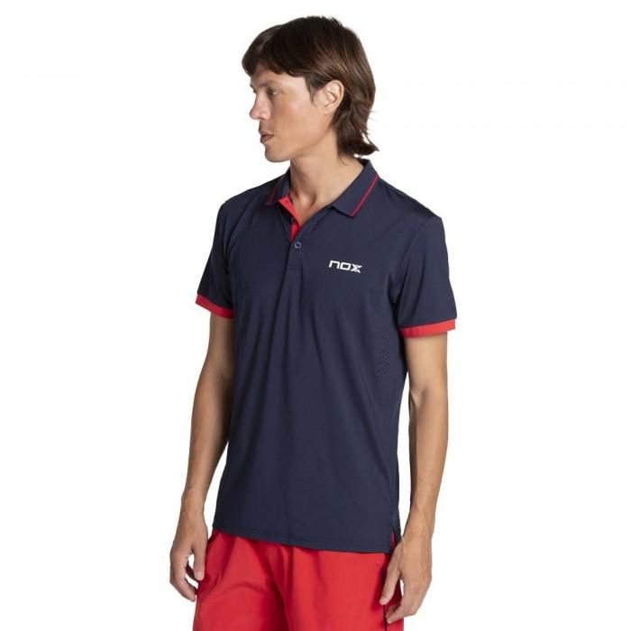 [해외]NOX Pro Short Sleeve Polo 12138335582 Blue / Red