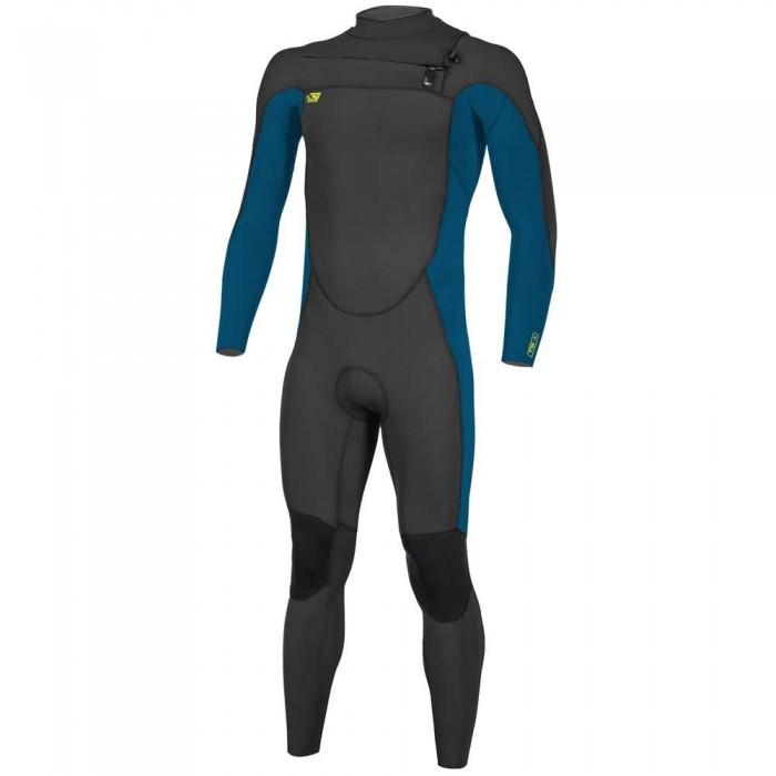 [해외]오닐 웻슈트 Youth Ninja 4/3 mm Long Sleeve Wetsuit 14138264856 Black / Ultrablue / Dayglo