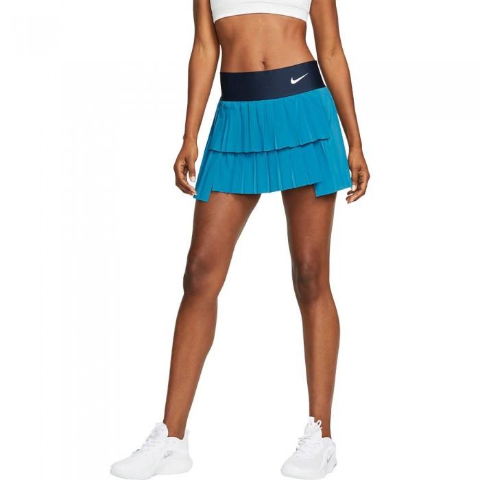 [해외]나이키 Court Advantage Pleated Skirt 12138297790 Brigade Blue / Obsidian / White
