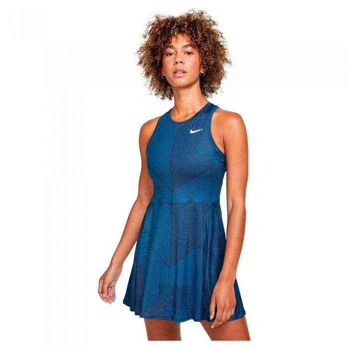 [해외]나이키 Court Dri Fit Advantage Printed Dress 12138345762 Obsidian / White