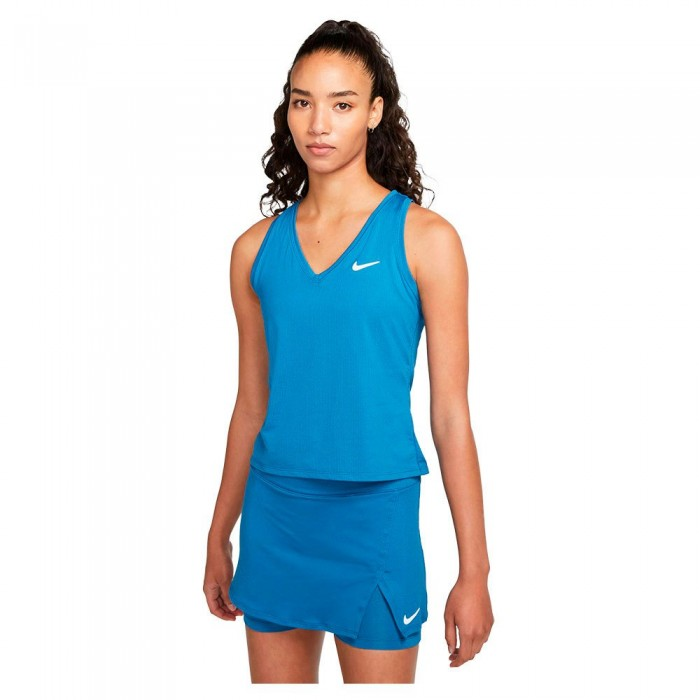 [해외]나이키 Court Victory Sleeveless T-Shirt 12138345773 Brigade Blue / White